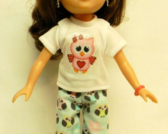 Owl Theme PJ's For 14.5 Inch Doll Like Wellie Wishers
