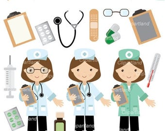 ON SALE INSTANT Download. Cd_7_doctor. Doctor, nurse clip art. Personal and commercial use.