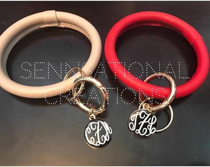 Monogrammed Key Ring, O Ring Key Chain, Key Chain, Monogrammed Key Chain, Personalized Key Ring, Keychain, Monogrammed Keychain