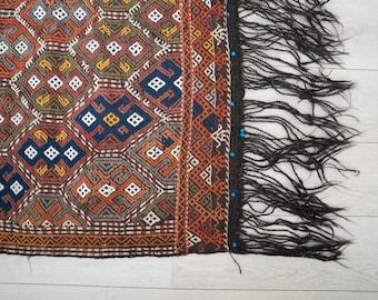 4x5 Vintage Turkish Jijim Carpet