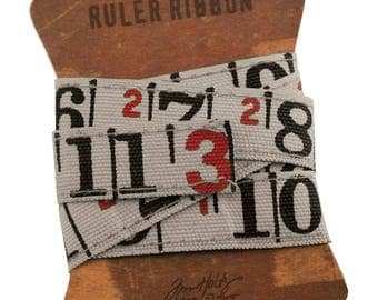 TIM HOLtZ -RULER RIBBON    New !!   from ADVANTuS - 1 yard length of canvas