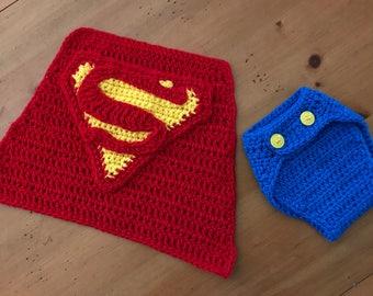 Superman Newborn Photo prop set