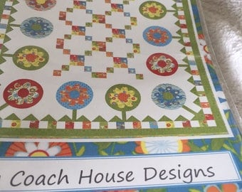 """Paper Pattern for a quilt called Plant a Garden by Coach House Designs 62"""" x 72"""""""