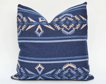 Ralph Lauren Rustic Pillow Cover - Arrowhead Stripe Trading Blanket - Night Sky