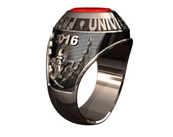 Traditional College Class Ring
