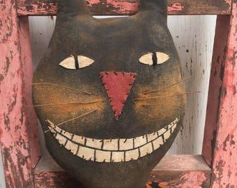 Primitive Grungy  Halloween Folk Art~Fritz the Cat Doll~Hafair Tream