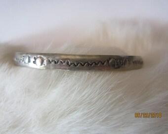 BANGLE BRACELET Alpaca Mexico Vintage Silver Bracelet
