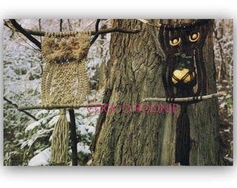 Macrame Owl Pattern  Two Patterns One with Plant Holder Vintage 1970's Digital Macrame Pattern