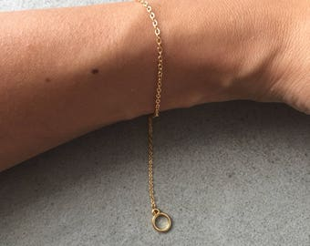 Gold plated bracelet: Circle of life!