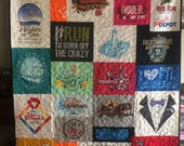 Double sided T-shirt Quilt Asymmetrical Custom for Tyler S.- Final Payment