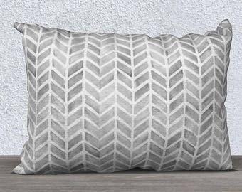 Kids Boho Decor, Gray Lumbar Pillow, Arrow Print Pillow, Gray Sofa Pillow, Gray Tribal Pillow, Throw Pillow, Gray Pillow Cover, Baby Boho