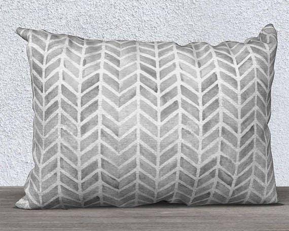 "Kids Boho Pillow Cover in Gray, 14""x20"""