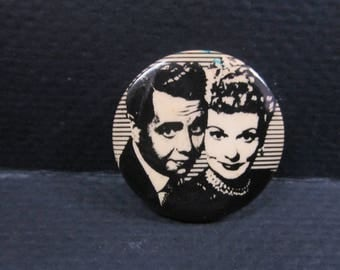 vintage Desi and Lucy Arnez button pinback