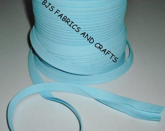 """Blue Bias Tape 1/2"""" Extra Wide Double Fold Bias Tape US Made 12 Yards"""