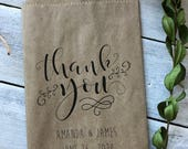 Wedding favor bags - Cookie or Candy Buffet Bags - Dessert Bar Favor Bags -unique thank you gift - Set of 25