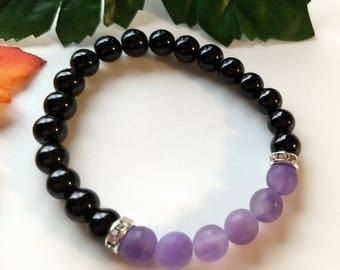 Amethyst (Matte) and Czech Glass Size M