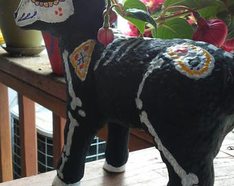 Sugar skull lamb for your day of the dead altar