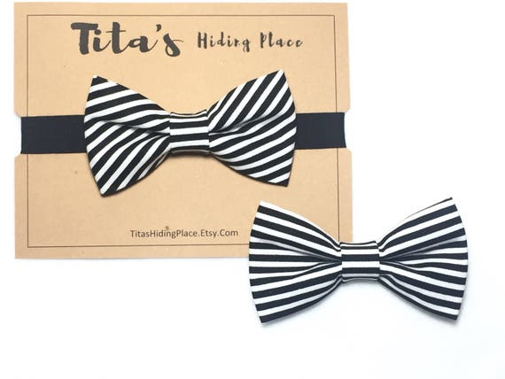 Black and White Fabric, Bow Ties for Men,Black and White Bow Tie, Black and White Bows, Men's Bow Tie, Striped Bow Tie,Striped Bow