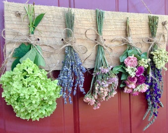 Dried Flower Wreath,Dried Flower Rack,Drying Rack,Gift,Dried Flowers,Country,Rustic,Primitive Decor,Dried Flower Arrangement,Cottage Decor