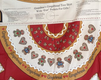Grandma's Gingerbread Christmas Tree Skirt by Dianna Marcum for Marcus Bros. Textiles Craft Supply