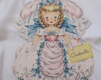 Collectible Hallmark Vintage Birthday Card - Unused - Cinderella Doll #2