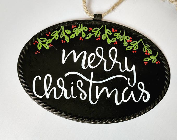 Featured listing image: Merry Christmas Metal Sign