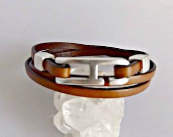 Leather bracelet for women, leather bracelet, leather jewelry, gift for her, bracelets for women, boho bracelet, wrap bracelet, KLB1005