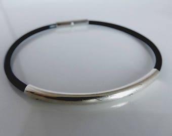 Rubber bracelet, black bracelet, rubber jewelry, summer bracelet, bracelet for men, mens rubber bracelet, rubber bracelets, black rubber