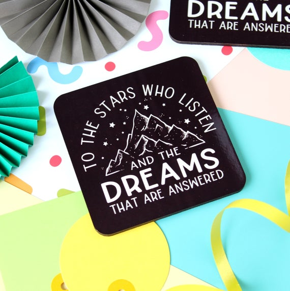 A Court of Mist and Fury Quote Coaster. The Night Court. Prythian. Feyre. Rhysand Quote. Bookworm. ACOMAF. ACOWAR. ACOTAR. Sarah J Maas.