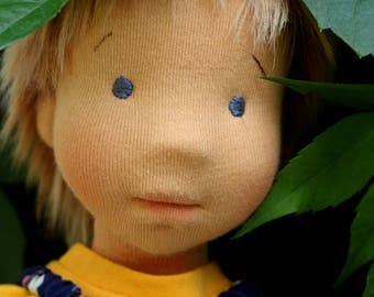 "Ready to ship, Waldorf sculptural face doll 16,0"" inches, ""boy Boris"", dolls for children from 5 years old, Art Collectibles"