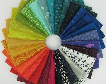 Indah Batiks Rainbow Fat Quarter Bundle - 30 Fat Quarters - 7.5 Yards