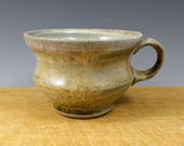Wide Wood-fired Mug. Earthy Brown. Free shipping to the lower 48 States.