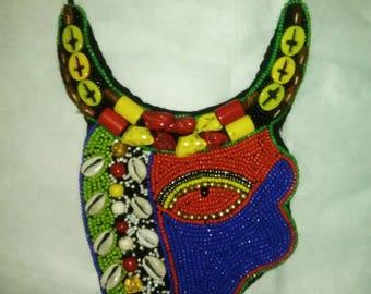 Ethnic Beaded Bib Necklace
