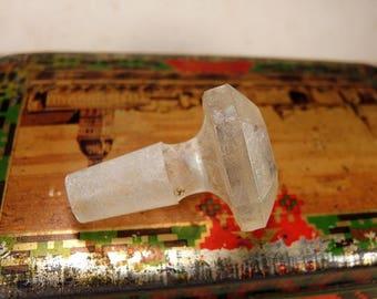 ON SALE Antique cut glass bottle stopper b57