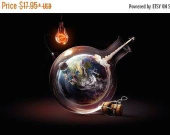 20% OFF SALE Bottled Earth Poster