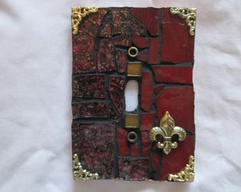 Mosaic switch plate