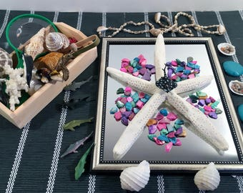 loose parts//seashell//provocation with mirror