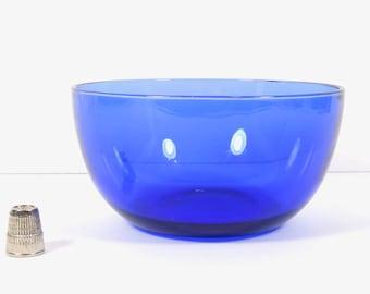 Vintage Cobalt Blue Glass Bowl