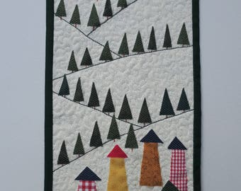 Village in the Alps Miniature Quilt Kit