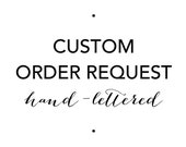 Custom Hand-Lettered Sign