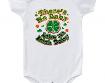 Irish Shamrock Baby Bodysuit