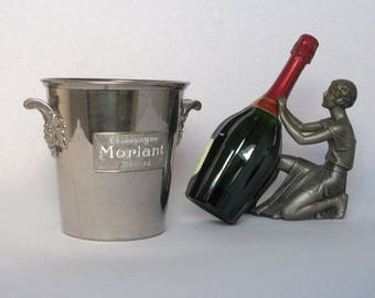 """Heavy-duty Vintage French Champagne Bucket from the House """"MORLANT"""" , 1930s-1950s"""