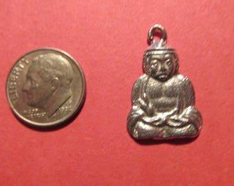 Dozen Pewter Buddha Charms