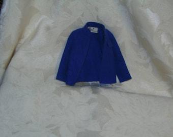 ON SALE!  Vintage 1970 Barbie Ken Brad Casual All Stars Coat #1514 1970 Sears Mod Blue Felt!