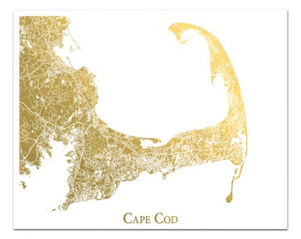 Cape Cod Map Etsy - Cape cod location us map