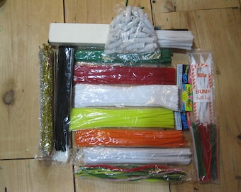 Chenille Stems-Bulk Pipe Cleaners-Assorted Colors Chenille Stems-Bulk Craft Supplies-VBS Craft Supplies-Bulk Pipe Cleaner-Scout Supplies