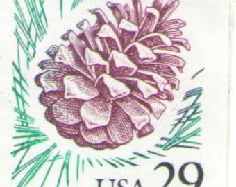 Unused 1993 Pine Cone - Vintage Postage Stamps Number 2491