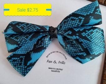 Sale: Snake skin design hair bow
