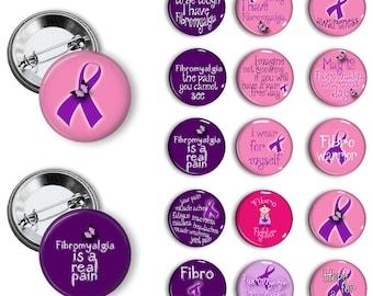 Fibromyalgia Awareness Pins Fibromyalgia Awareness Buttons Fibromyalgia Awareness Badges 1.25 inch pinback buttons pins badges