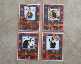 Halloween Witch Cards with Choice of 6 Sentiments